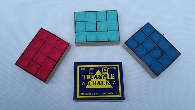 Pool table triangle chalk for sale