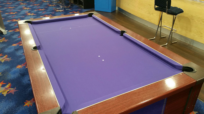 Cardiff Purple Pool Table Recover