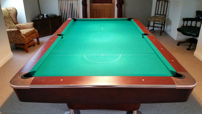 American green pool table recover Newport