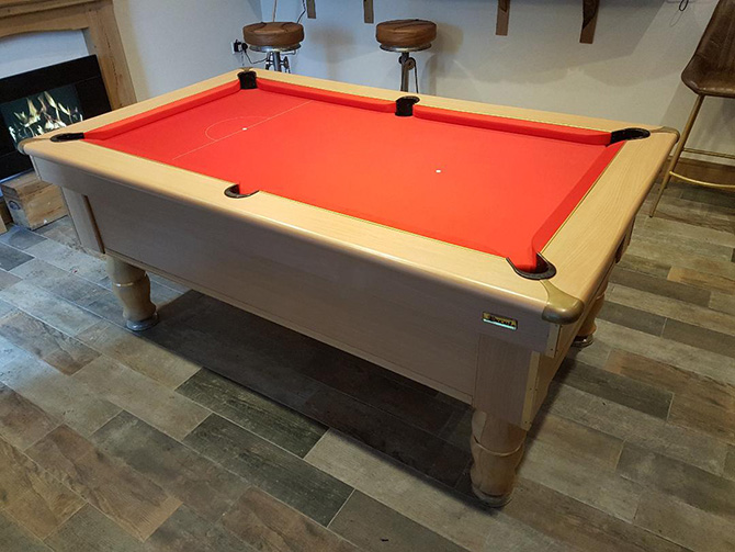 Baize Pool Table Recovering