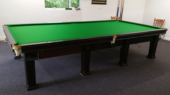 Full Size snooker table install recover South Wales