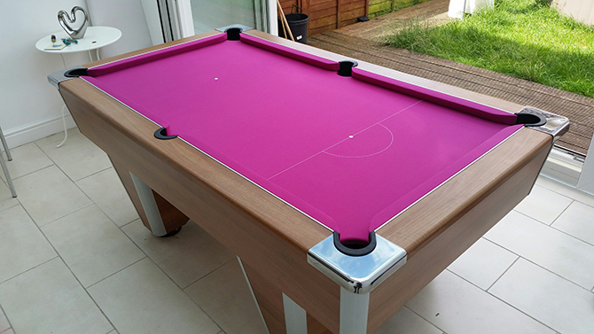 Pink pool table recovering service South Wales