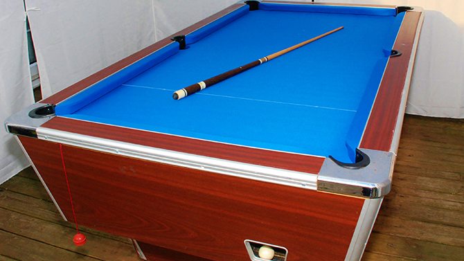 Pool table recovers in cwmbran South Wales