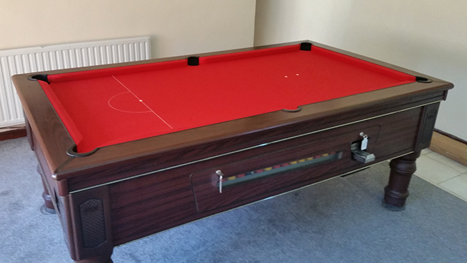 Red Recover On Supreme Prince Pool Table Sout Wales
