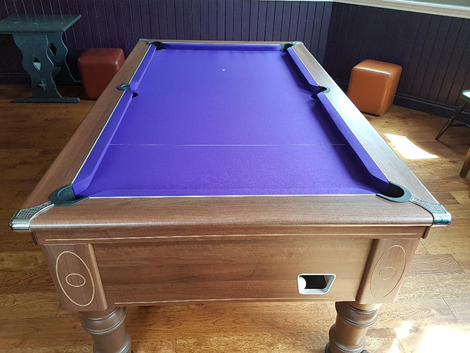 Purple pool table cloth recovered Thornbury South West